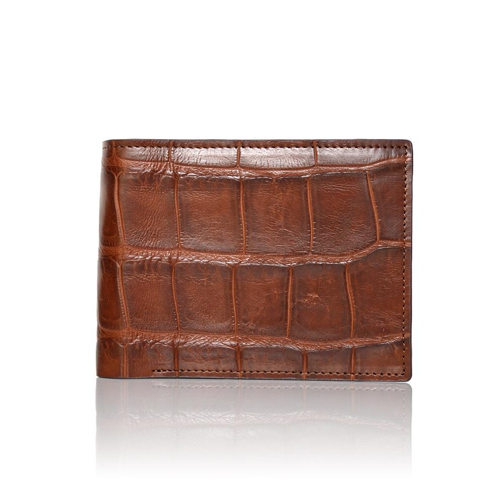 l'atteggiamento migliore fe53c 6cc25 Portafoglio da uomo in coccodrillo color marrone
